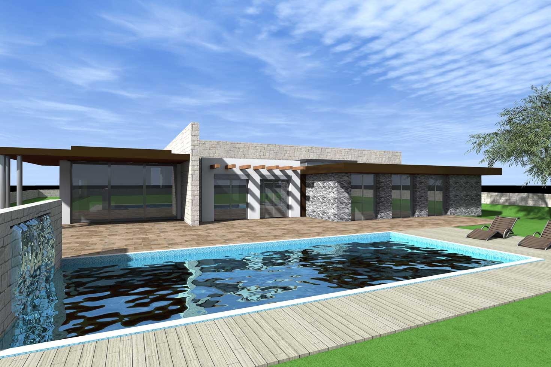 Villa Unifamiliare Con Pianta Rettangolare Sad Progetti Srl